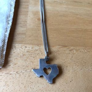 James Avery Texas charm w/ 18 in. cable chain!